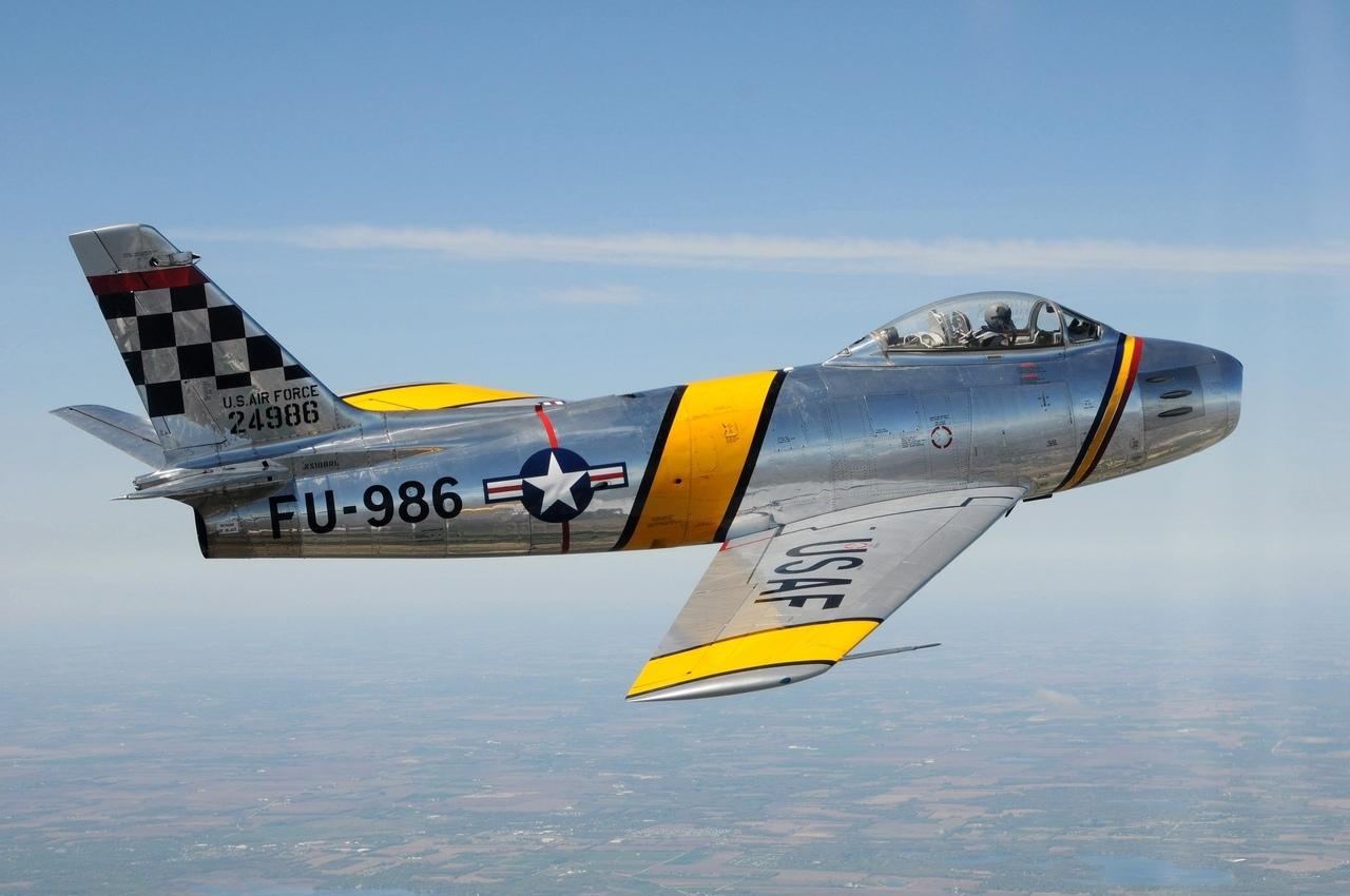 F-86 Saber, один из символов Корейской войны.