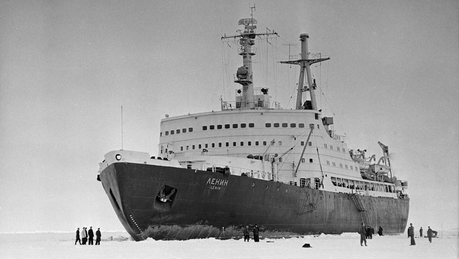 Атомный ледокол «Ленин», 1959 г. постройки. Мощность 44 тыс. л.с.