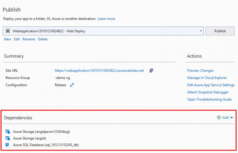 Web and Azure Tool Updates in Visual Studio 2019 / Habr