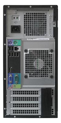 Вид системного блока Dell OptiPlex 990 сзади