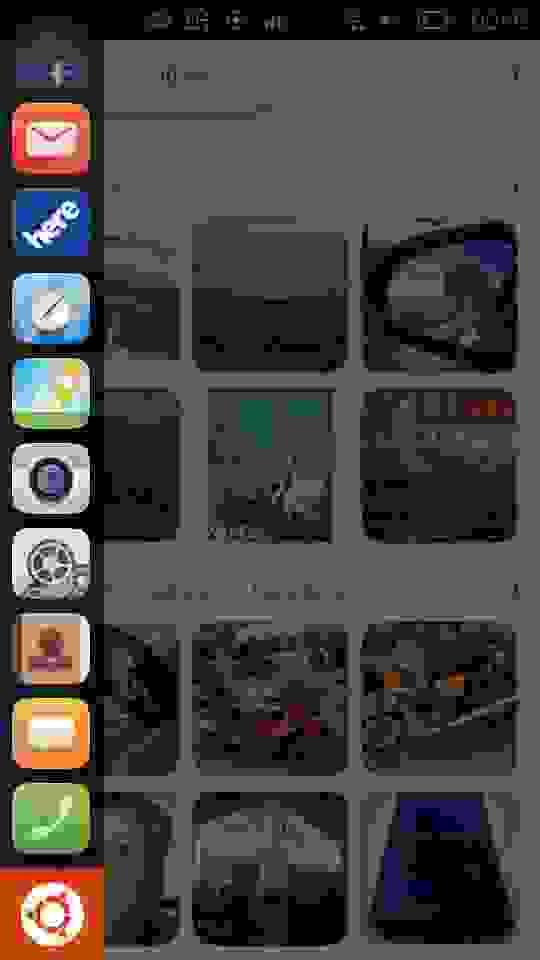 Swipe слева на bq Ubuntu