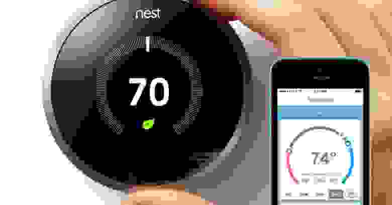 Nest thermostat ad picture