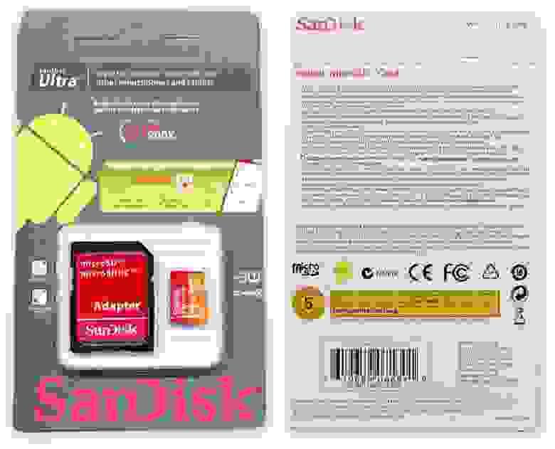 Подделка на Sandisk Extreme 64GB Micro SD