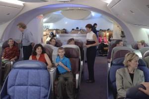 Макет интерьера Боинга 787