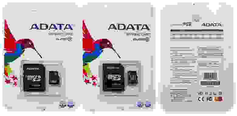Подделка на ADATA 128GB и 64GB Micro SD