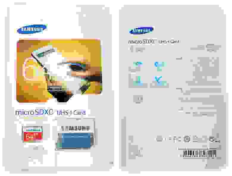 Подделка на Samsung EVO 64GB Micro SD
