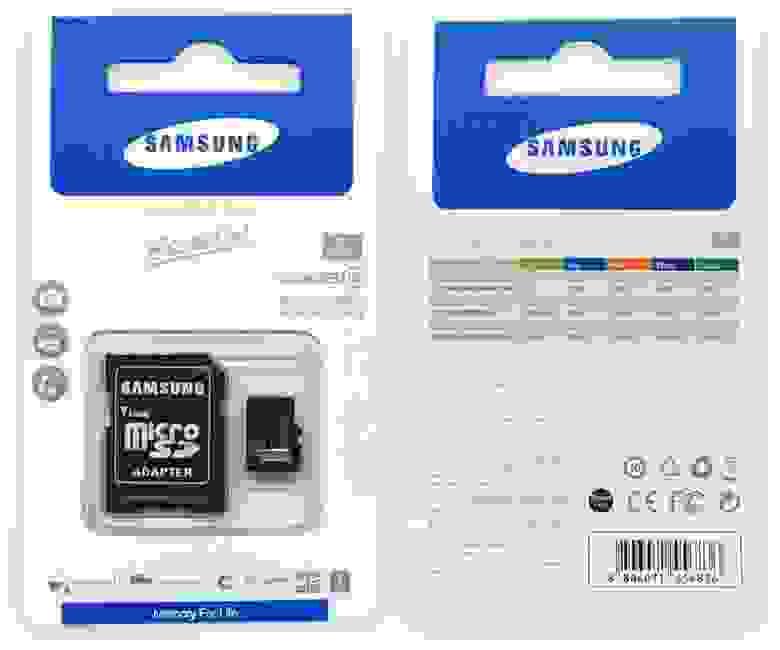 Подделка на Samsung Essential 64GB Micro SD