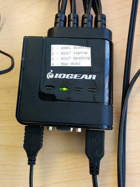 IOGEAR 4-Port USB Cable KVM Switch GCS24U