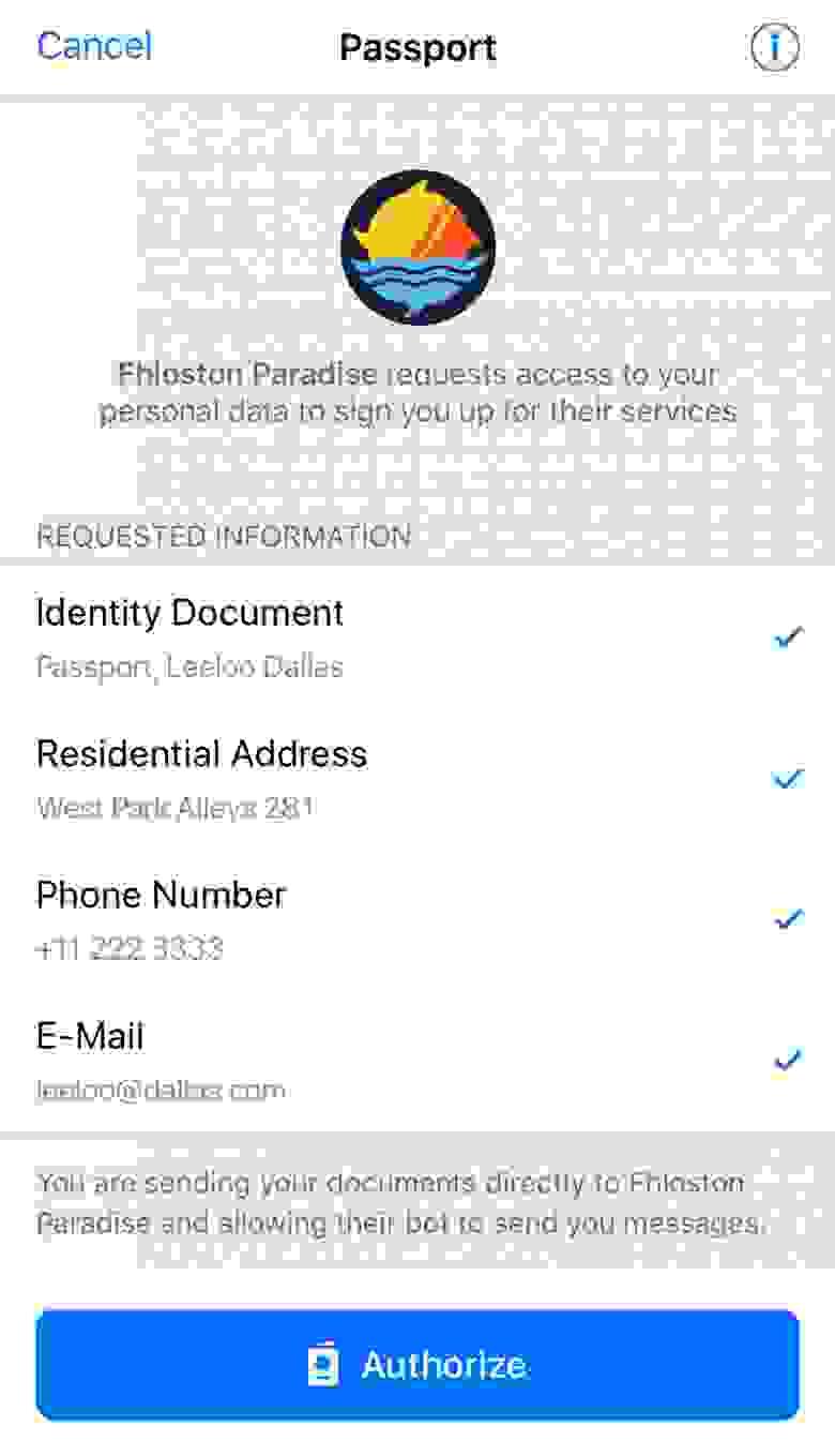 image скриншота новости про Telegram Passport