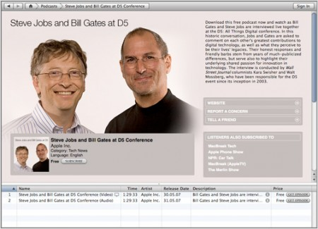 iTMS Podcast: Steve Jobs and Bill Gates at D5