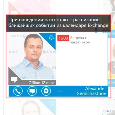 Иконка контакта при наведении