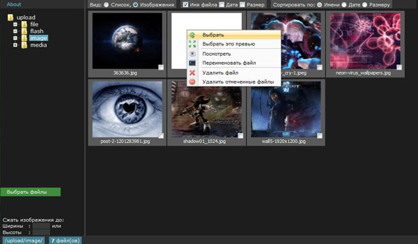 ckeditor file manager