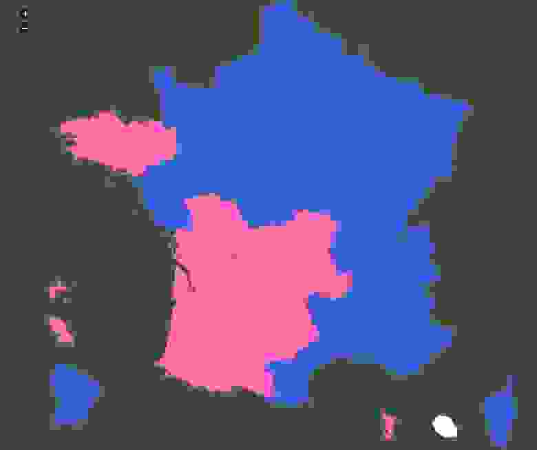 jVectorMap – French Presidential Election, 2012