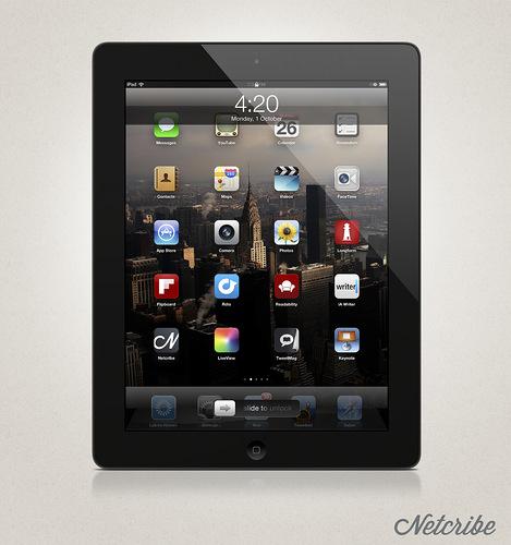 Netcribe: iPad PSD