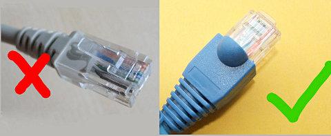 Коллаж из двух фотографий патч-кордов с Википедии