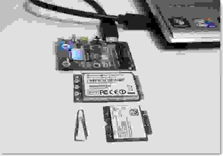 Плата с разъемом MiniPCIe, модуль MiniPCIe, модуль M.2