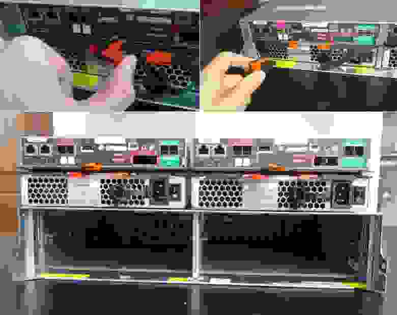 Замена FRU (Field Replaceable Unit) NetApp E2700