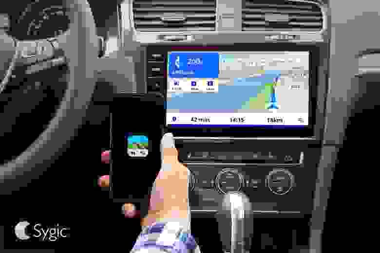 Пример работы навигационного SDL приложения Sygic