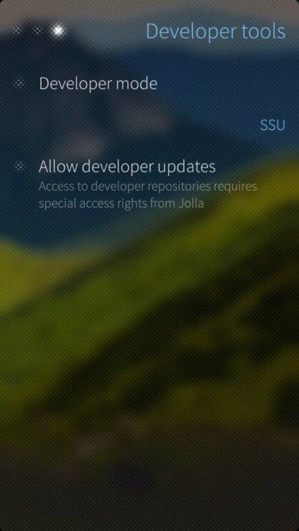 Jolla Developer mode