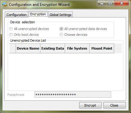 Инициация начального шифрования данных