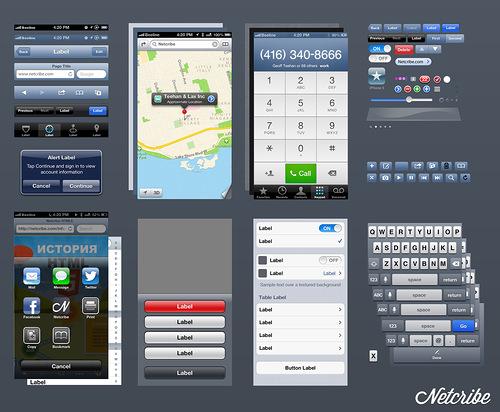 Netcribe: iOS 6 GUI PSD (iPhone 5)