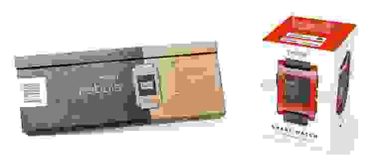 Две разные коробки Pebble