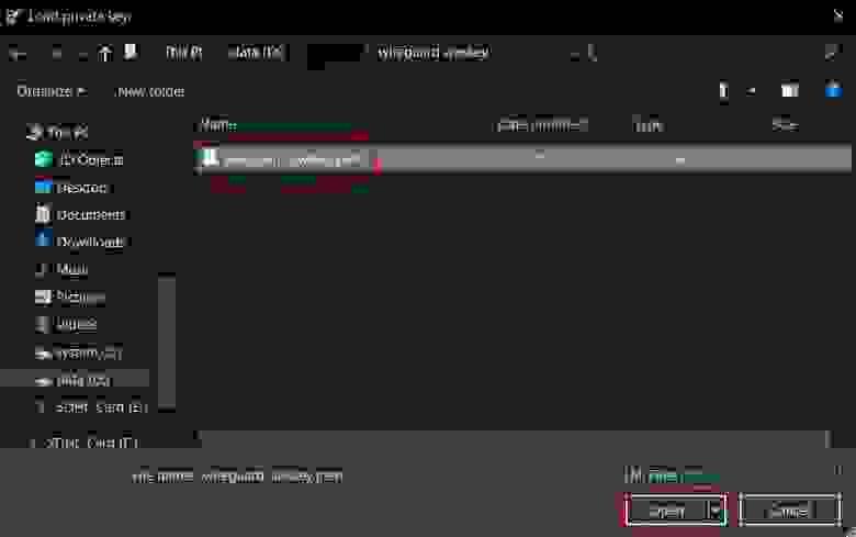 AWS key in PEM format