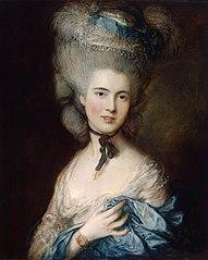 Томас Гейнсборо. Дама в голубом. Около 1780 года.