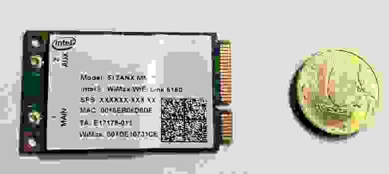 Wi-Fi WiMax адаптер intel 5150