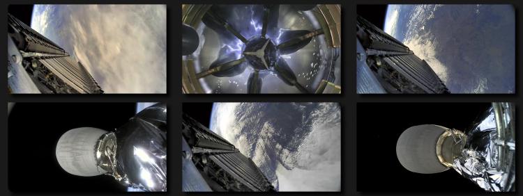 Снимки с Falcon 9