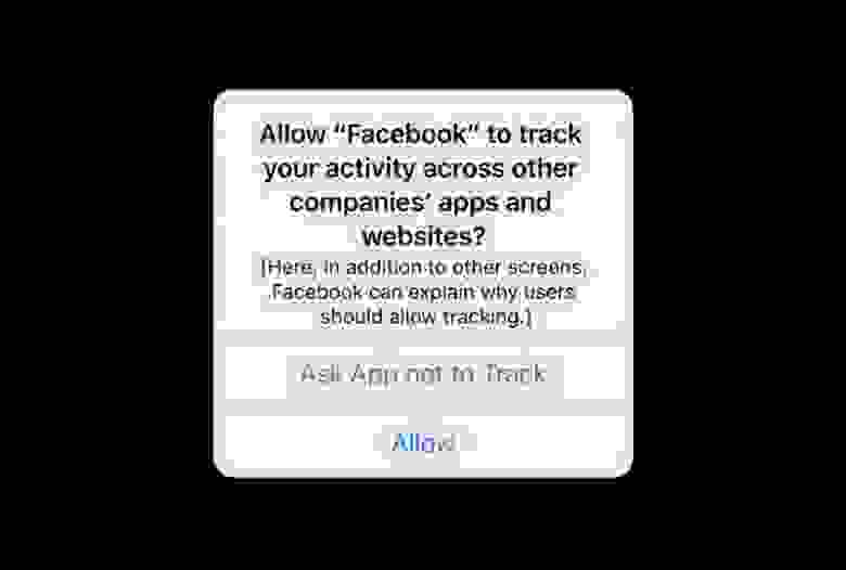 Запрос Facebook на трекинг в iOS