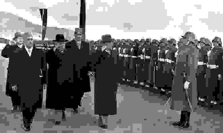Афганская сторона впервые принимает генерального секретаря товарища Хрущева Н.С.  1955 год.