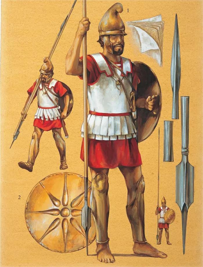Македонский фалангит в льняном панцире (линотраксе)