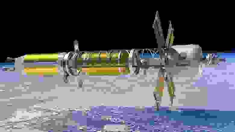 Концепция космического корабля с ядерной тепловой двигательной установкой / НАСА