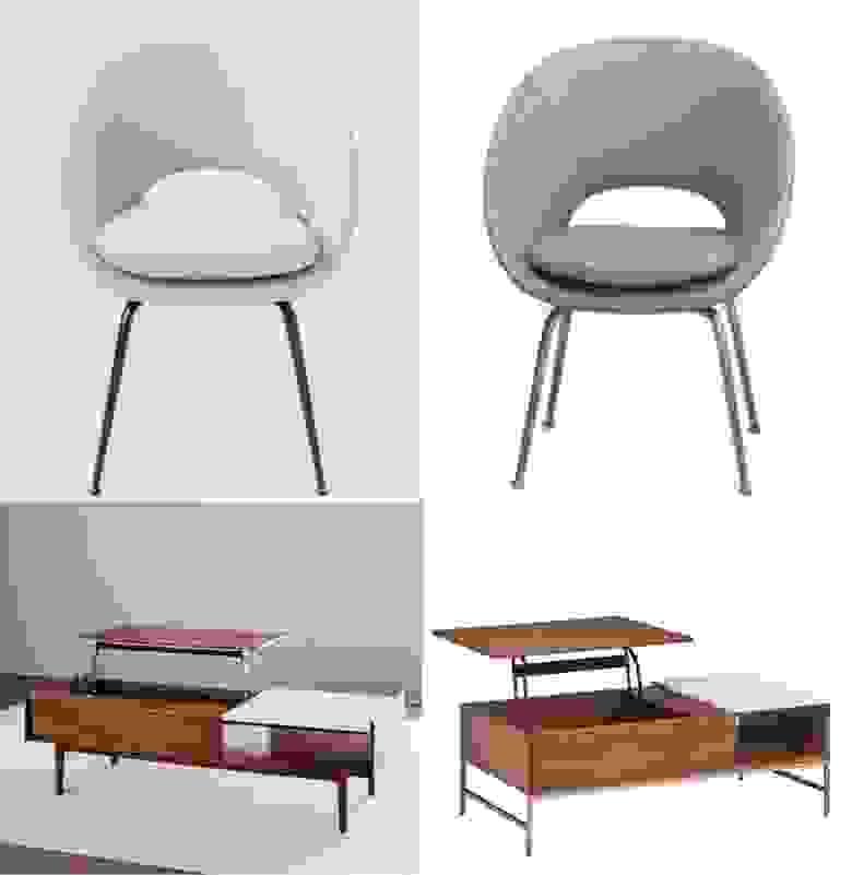 Пример подделки от Amazon. Слева - мебель от производителя Williams-Sonoma, слева - от бренда Rivet, созданного Amazon