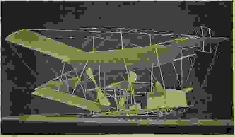 Паровой самолёт - квадроплан