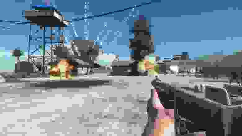 В Battlefield 1943 игрока забрасывают на тропический остров. На первый взгляд сложно сказать, что игра про Вторую мировую — настолько вид пальм противоречит нашему представлению об этом периоде