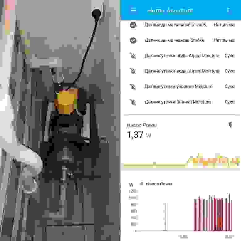Управление насосом с помощью розетки Mi Smart Plug.