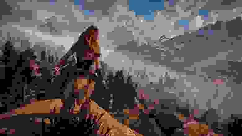 Окружение игры Horizon Zero Dawn усиливает погружение игрока и помогает ему лучше понять события истории