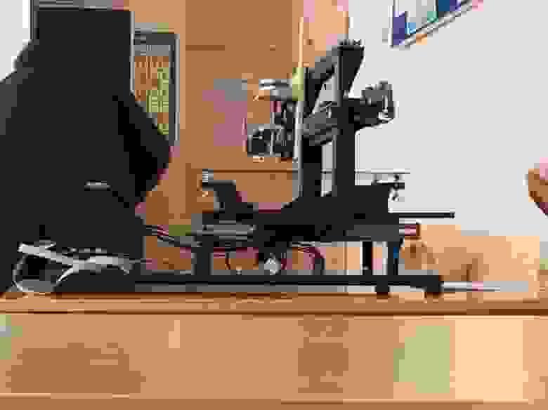 Фото нашего 3D-принтера на школьной городской олимпиаде