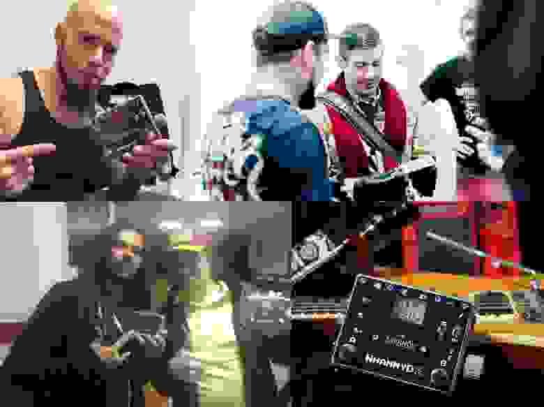 CJ Pierce (Drowning Pool), Wes Borland (Limp Bizkit), Jame Shaffer (Korn), ну и я с педальками
