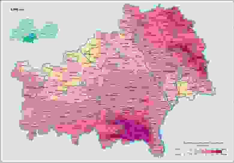 Загрязнение Гомельской области Цезием-137 в 1986