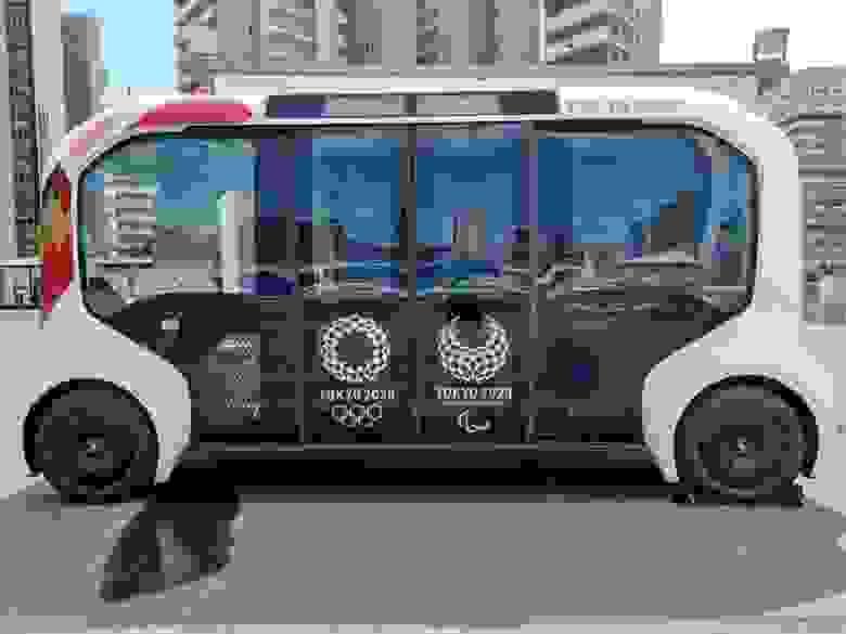e-Palette в Олимпийской деревне
