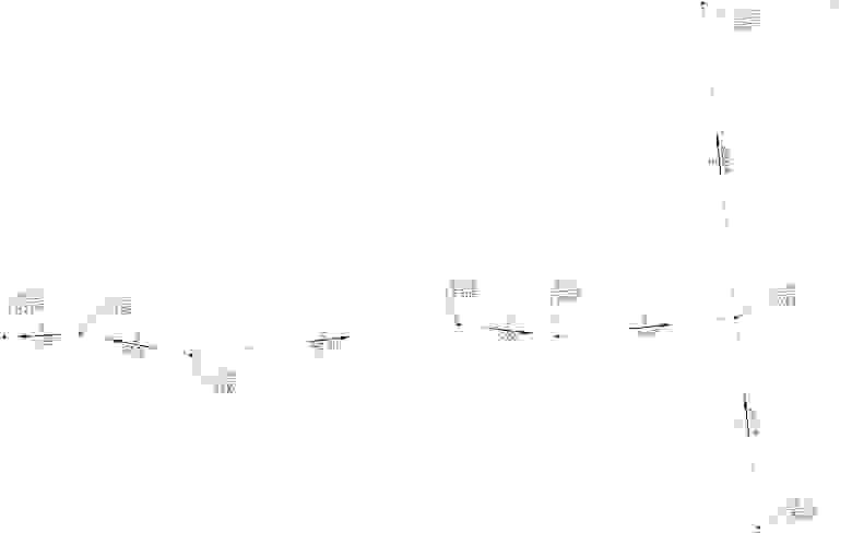 Рис. 16 Пример проезда с опорными точками по проездам и уклоноуказателями
