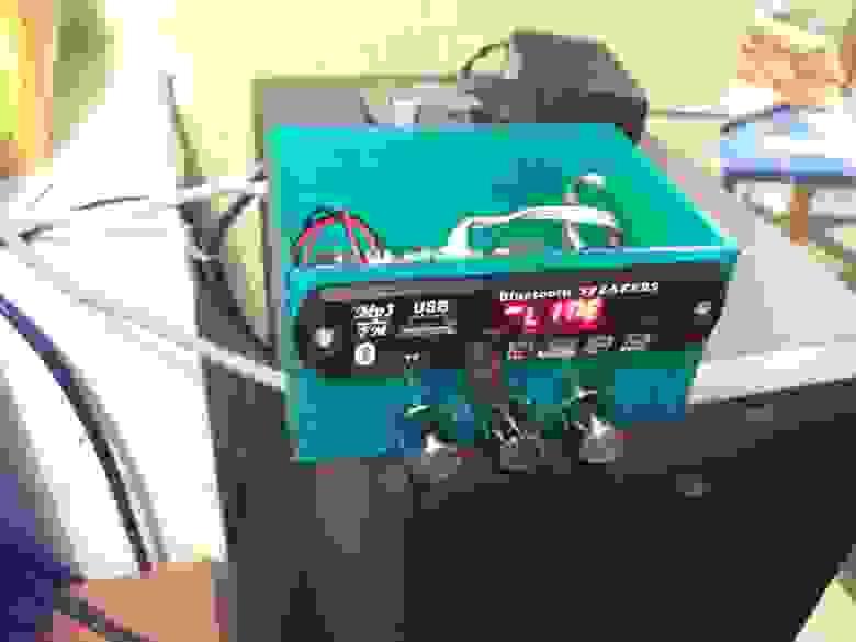 Корпус для усилителя с MP-3плеером (стоит у меня дома)