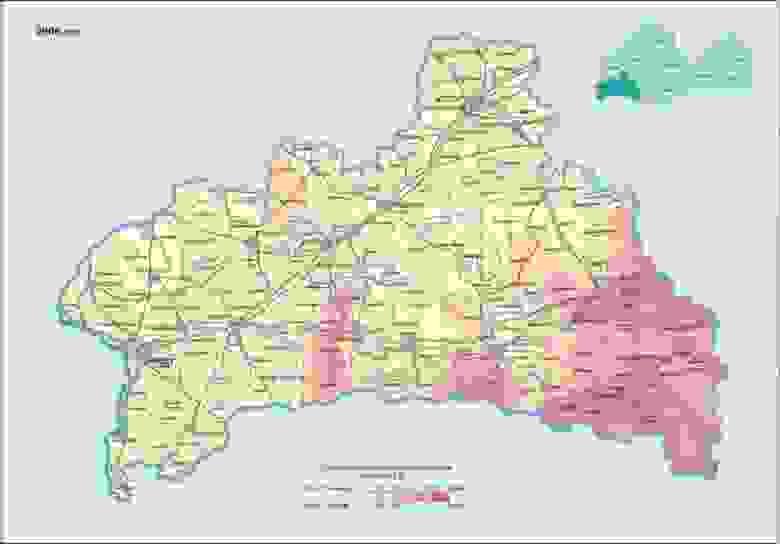 Цезий - Брестская область, 2006