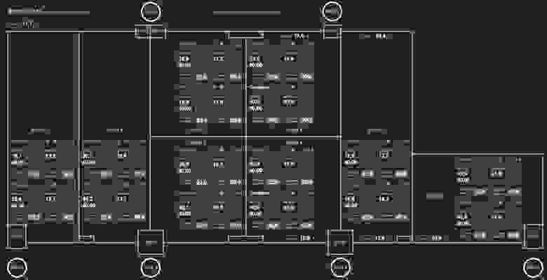 Обзорная схема инженерных систем логистического центра, 25 дюймов
