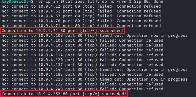 Ищем открытый 80 порт