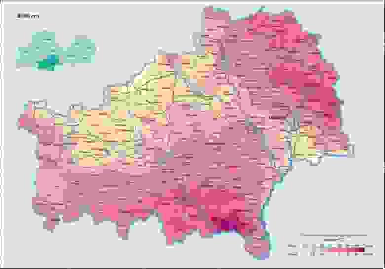 Загрязнение Гомельской области Цезием-137 в 2006