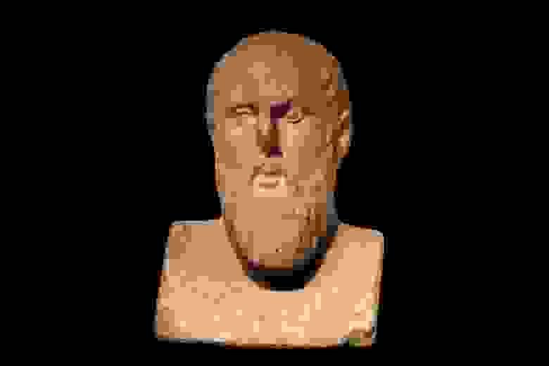 Основатель стоицизма Зенон Китийский, бюст из музея Галло-романской культуры